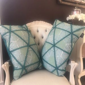 Two down filled accent pillows